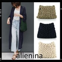 alienia Casual Style A4 Plain Handmade Shoulder Bags