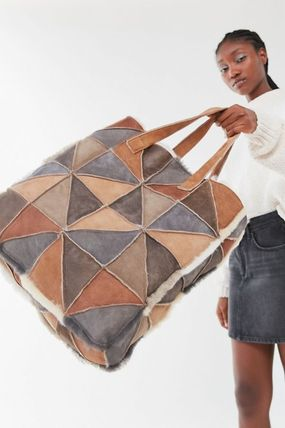 Casual Style Unisex Blended Fabrics Totes