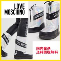 Love Moschino Rubber Sole Casual Style Unisex Blended Fabrics Street Style