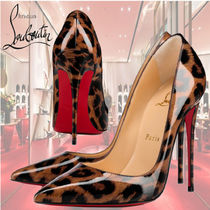 Christian Louboutin Leopard Patterns Enamel Other Animal Patterns Leather