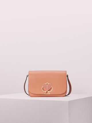Casual Style 2WAY Plain Leather Party Style Crossbody Logo