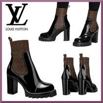 Louis Vuitton Monogram Blended Fabrics Leather Ankle & Booties Boots