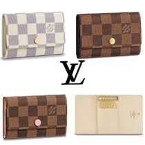Louis Vuitton DAMIER Other Check Patterns Unisex Leather Keychains & Holders