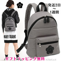 MARY QUANT Flower Patterns Casual Style Nylon Plain Backpacks