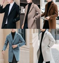 Short Wool Plain Chester Coats