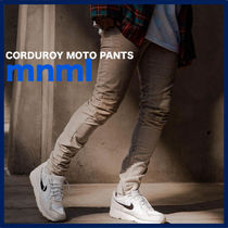 MNML Tapered Pants Corduroy Street Style Plain Tapered Pants