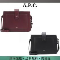 A.P.C. Casual Style Plain Leather Shoulder Bags