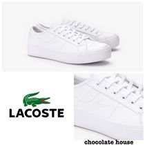 LACOSTE Casual Style Unisex Plain Other Animal Patterns