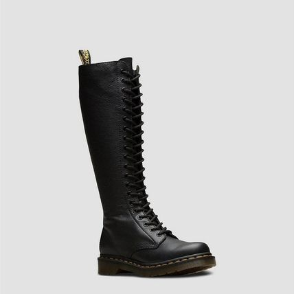 Dr Martens Casual Style Unisex Street Style Leather Over-the-Knee Boots