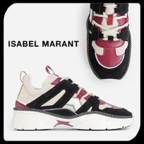 Isabel Marant Unisex Suede Street Style Leather Sneakers