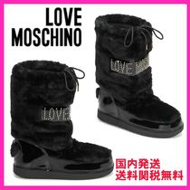 Love Moschino Rubber Sole Casual Style Unisex Faux Fur Blended Fabrics