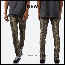 MNML Denim Street Style Other Animal Patterns Cotton Skinny Jeans