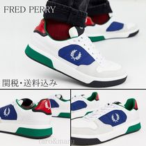FRED PERRY Suede Street Style Bi-color Plain Sneakers