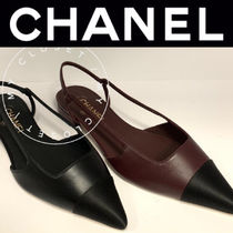 CHANEL ICON Casual Style Street Style Bi-color Plain Handmade