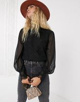 TOPSHOP Casual Style Puffed Sleeves Medium Party Style Elegant Style