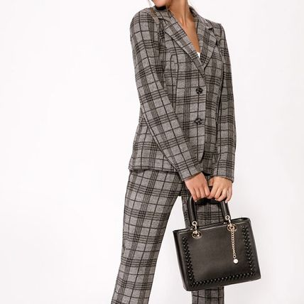 Gepur Tartan Other Plaid Patterns Casual Style Wool Cashmere