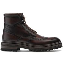 MAGNANNI Wing Tip Leather Engineer Boots