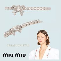 MiuMiu Party Style With Jewels Elegant Style Hair Accessories