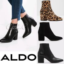 ALDO Leopard Patterns Casual Style Street Style Plain Leather
