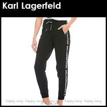 Karl Lagerfeld Casual Style Street Style Plain Cotton Long Short Length