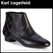 Karl Lagerfeld Plain Leather With Jewels Elegant Style