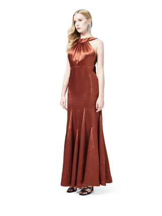 Sleeveless Flared Plain Long Elegant Style Dresses