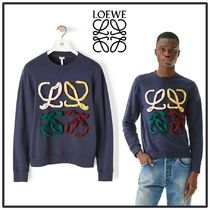 LOEWE Crew Neck Sweat Long Sleeves Cotton Sweatshirts