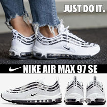 Nike AIR MAX 97 Platform Round Toe Casual Style Blended Fabrics Street Style