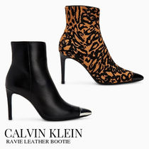 Calvin Klein Plain Other Animal Patterns Leather Pin Heels Party Style
