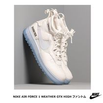 Nike AIR FORCE 1 Blended Fabrics Street Style Collaboration Logo Gore-Tex