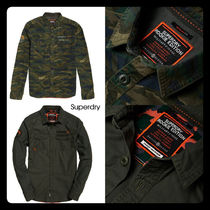 Superdry Camouflage Street Style Long Sleeves Cotton Shirts