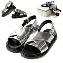 MARNI Open Toe Casual Style Plain Leather Sandals Sandal