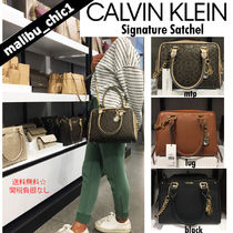 Calvin Klein CK CALVIN KLEIN Monogram Casual Style 2WAY Chain Plain Leather Office Style