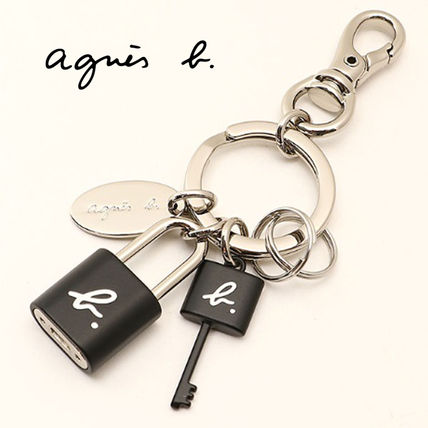 Unisex Street Style Chain Logo Keychains & Bag Charms