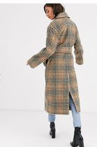 ASOS Other Plaid Patterns Casual Style Long Office Style Coats