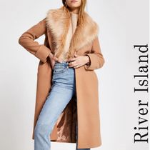 River Island Faux Fur Long Cashmere & Fur Coats
