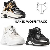 Naked Wolfe Leopard Patterns Platform Lace-up Casual Style Leather