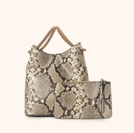Leather Python Shoulder Bags