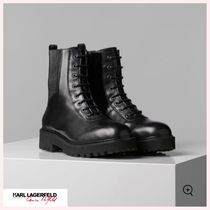 Karl Lagerfeld Round Toe Casual Style Plain Elegant Style Boots Boots
