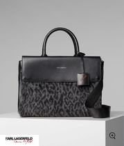 Karl Lagerfeld Leopard Patterns Casual Style Blended Fabrics 2WAY Plain
