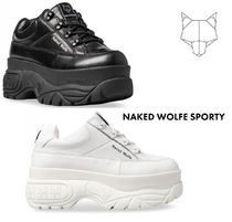 Naked Wolfe Platform Lace-up Casual Style Leather