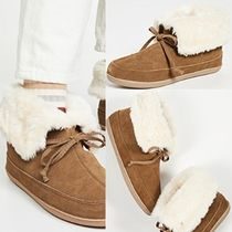 Ron Herman Round Toe Rubber Sole Casual Style Street Style Plain