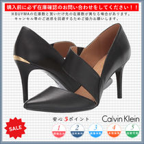 Calvin Klein Casual Style Plain Pin Heels Pointed Toe Pumps & Mules