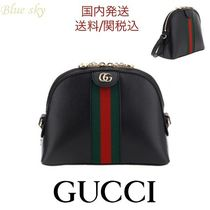 GUCCI Ophidia Casual Style Calfskin Elegant Style Shoulder Bags
