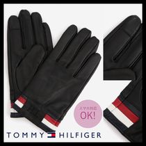 Tommy Hilfiger Plain Leather Leather & Faux Leather Gloves