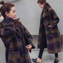 Casual Style Faux Fur Street Style Plain Coats