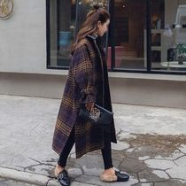 Casual Style Faux Fur Street Style Plain Formal Style  Coats