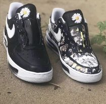 Nike AIR FORCE 1 Flower Patterns Unisex Street Style Collaboration Plain
