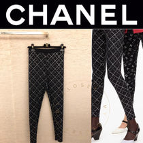 CHANEL ICON Other Check Patterns Street Style Long Handmade
