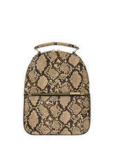 Accessorize Casual Style Faux Fur Python Elegant Style Backpacks